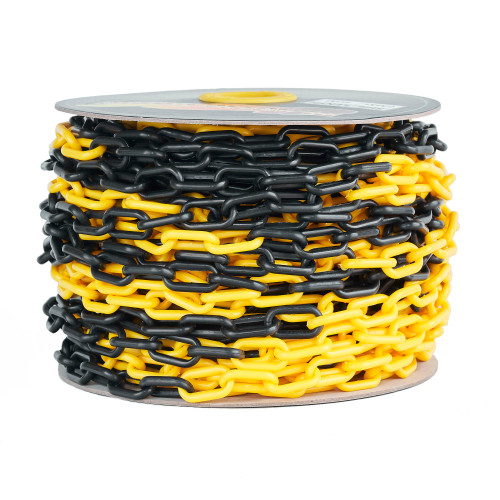 Yellow Black Plastic Chain - 6mm x 40m roll