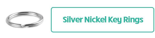 Silver Nickel Key Rings