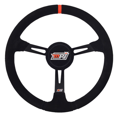 MPI 14 3/4 LATE MODEL/MODIFIED DISH STEERING WHEEL - SUEDE GRIP