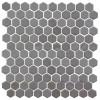 Glass Onix Hexagon Pewter 13x13 Mosaic