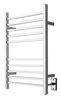 """Radiant Collection - Hardwired Square Brushed - Heated Towel Rack 24"""" x 32"""""""