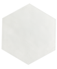 Maiolica White 7x8 Hexagon Wall Tile (MAIW081-78H)