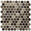 "Onix Hex Blends Tan Malla 1"" Hex Mosaic on 12x12 Sheet (202922)"