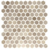 """Onix Hex Blends Taupe Malla 1"""" Hex Mosaic on 12x12 Sheet (202920)"""