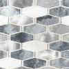 Ankara Metal and Stone Elongated Hexagon Mosaic (SMOT-SMTL-ANKARA6MM)