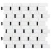The Finish Line Sable Black Dominos Mosaic (ANTHFLSD)
