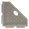 """Geo Lugged Brushed Nickel Matte Foot Rest 5"""" (MBA196-024)"""
