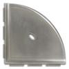 """Metro Lugged Brushed Nickel Matte Corner Shelf 8"""" (SBA114024)"""