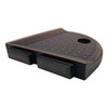 "Metro Lugged Dark Oil-Rubbed Bronze Matte Foot Rest 5"" (SBA120070)"