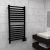Quadro Q 2042 Matte Black Heated Towel Rack 24.375 x 44.75 (Q2042MB)