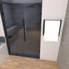 Radiant Matte Black Small Heated Towel Warmer 20.375 x 21.25 (RWHS-SMB)