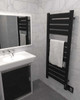 Vega V2356 Matte Black Heated Towel Rack 26.25 x 59.875 (V2356MB)