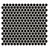 Porcelart Black Glossy 3/4 in. Penny Round Mosaic (SF200079)