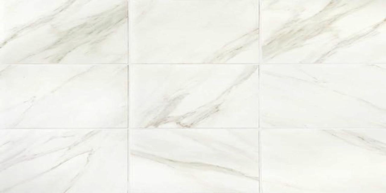 Mirasol Bianco Carrara Matte Floor Tile 12x24 Tiles Direct Store