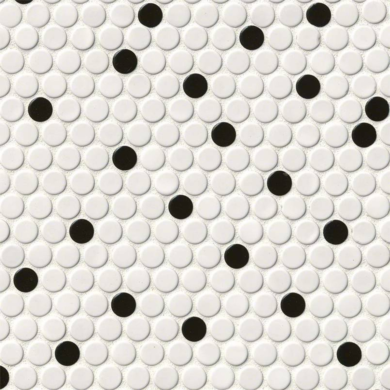 domino white black glossy penny round