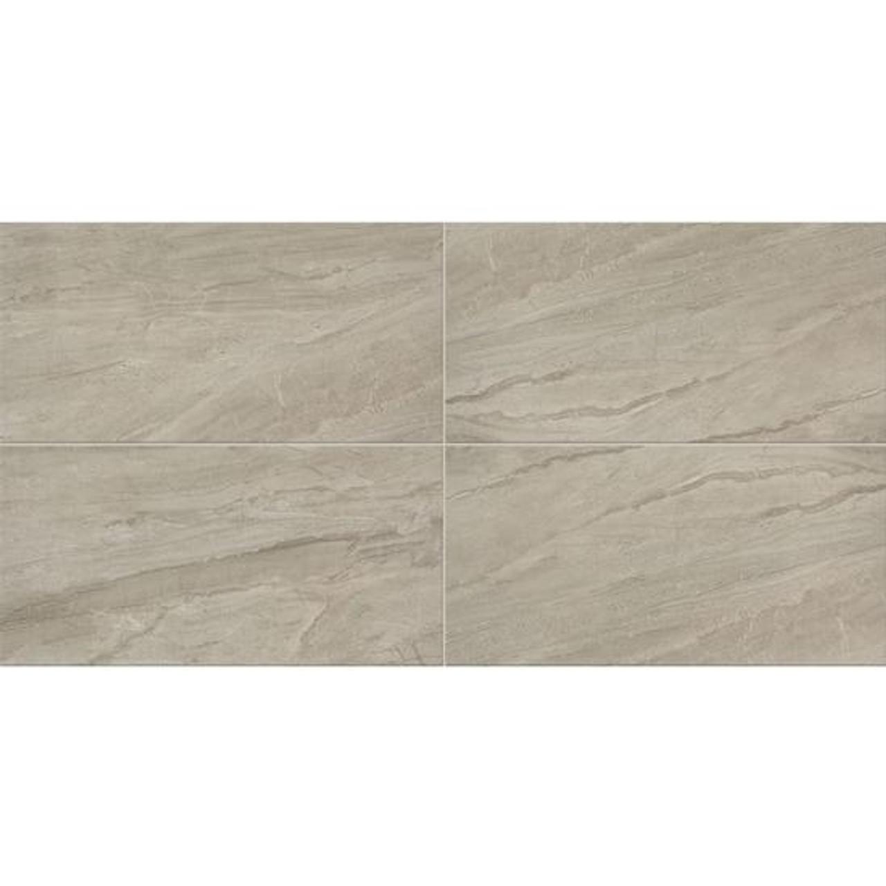 Impresa Light Gray Ceramic Floor Tile 12x24 Tiles Direct Store