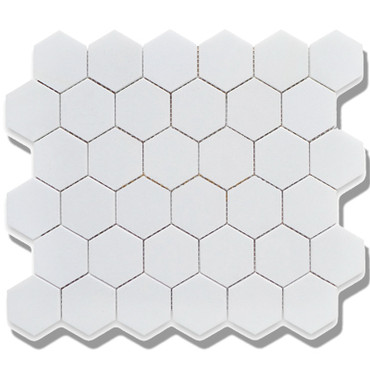 CC Mosaics - Matte Hexagon White Matte Mosaic 2x2