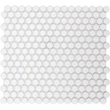 CC Mosaics - Matte Penny Round White Mosaic 12x12 (UFCC108-12M)