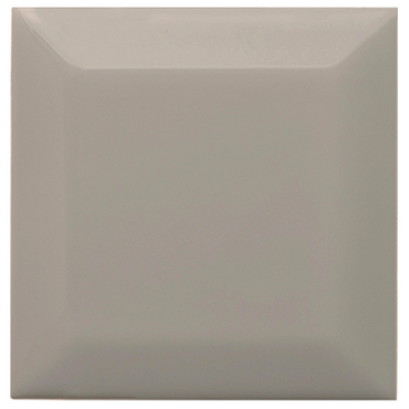 Neri Silver Mist 3x3 Beveled 2 Glazed Edges