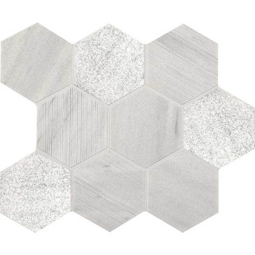 """Ascend Candid Heather Mixed Finishes 4""""  Mosaics Hex"""