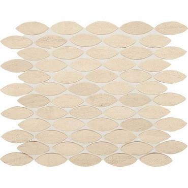 Ascend Honest Greige Honed 1 X 2-3/8 Mosaics Leaf