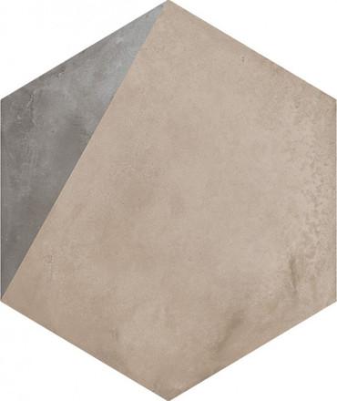 """Marca Corona Terra Porzione Deco F 8"""" Hex"""