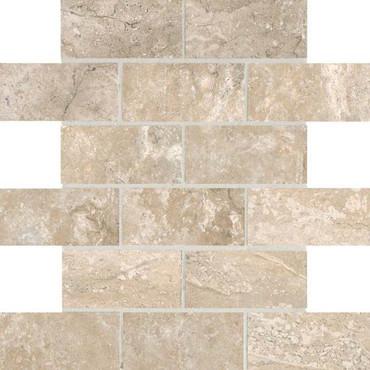 Laurel Heights Elevated Beige 2x4 Brick Joint Mosaic
