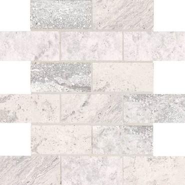 Laurel Heights Gray Summit 2x4 Brick Joint Mosaic