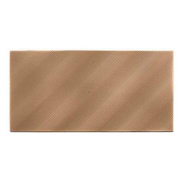 Refined Metals Bronze 4x8 Linear Wave Gloss