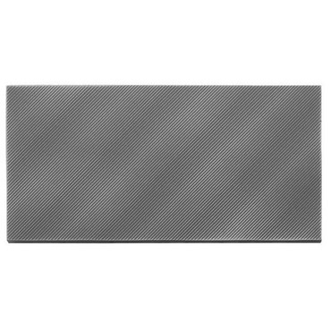 Refined Metals Gunmetal 4x8 Linear Wave Gloss