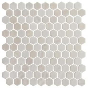 Onix Hex Pearl Glass Mosaic