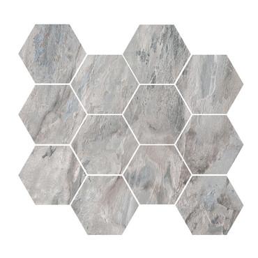 Renova Grey 4x4 Hex Mosaic