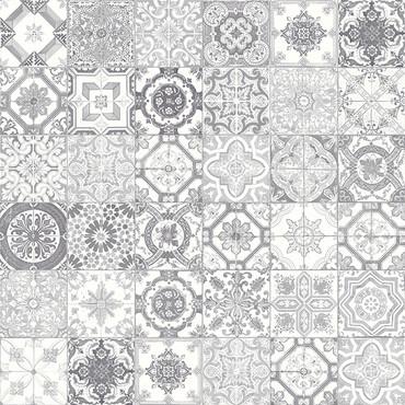 Marrakesh Grey Mix HD Glossy Ceramic 8x8