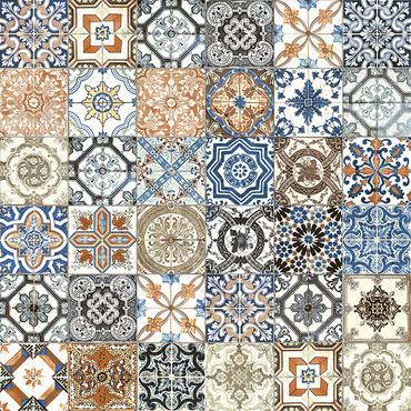 Marrakesh Color Mix HD Glossy Ceramic 8x8