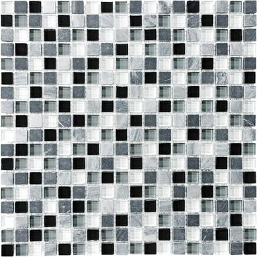 """Midnight Glass Stone Blend Mosaics 5/8"""" x 5/8"""""""