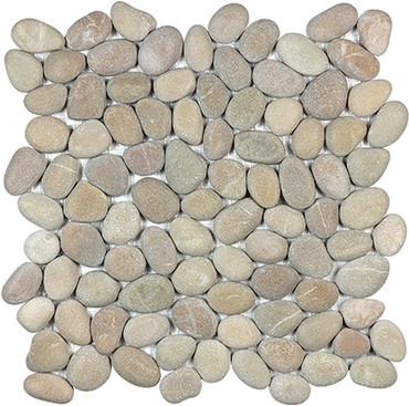 Driftwood Tan Natural Pebble Mosaics 12x12
