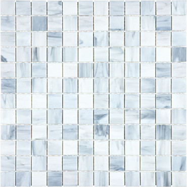 Baroque Carrara Stained Glass Mosaics 1x1