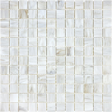 Baroque Calacatta Stained Glass Mosaics 1x1