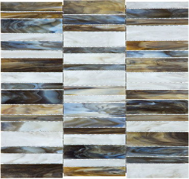 Baroque Corallo Random Stacked Stained Glass Mosaics