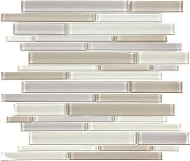 Element Natural Blend Random Strip Glass Mosaics