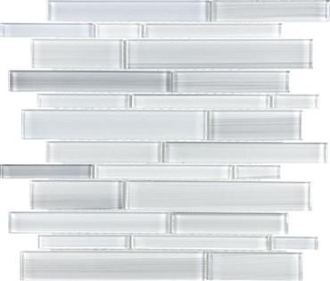 Fusion Ice Random Strip Glass Mosaics