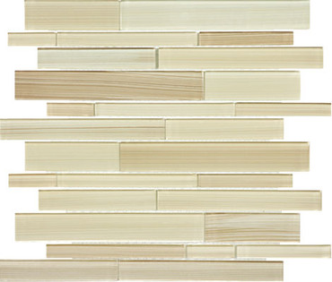 Fusion Sand Random Strip Glass Mosaics