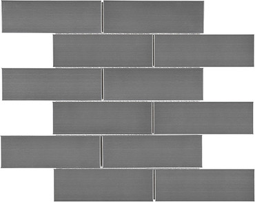 Stainless Steel Brick Mosaics 2x6