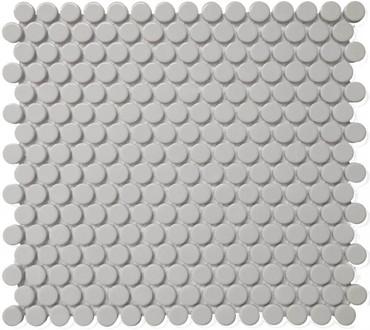 CC Mosaics - Grey Matte Penny Round Mosaic 12x12