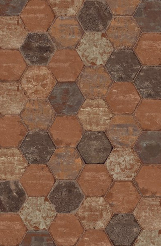 Bricklane Red 10 x 8.5 Hex