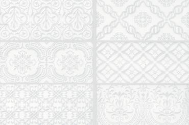 Maiolica - White Ceramic Deco Insert Wall Tile 4x10