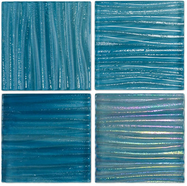Tidal Wave Swell 3x3 Decorative Glass Mosaic 12x12 (TW-3392)