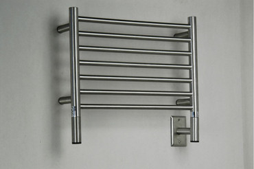 """Jeeves Collection - Model H Straight - Brushed - Heated Towel Rack 20.5"""" x 18"""""""