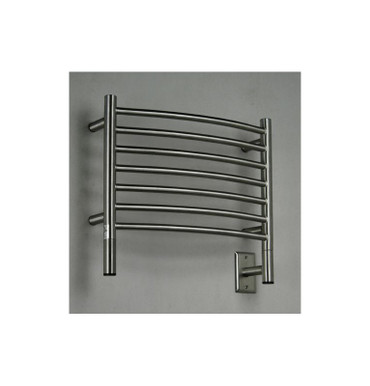 """Jeeves Collection - Model H Curved - Brushed - Heated Towel Rack 20.5"""" x 18"""""""