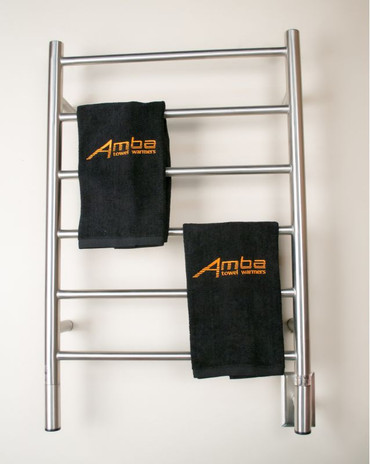 """Jeeves Collection - Model J Straight - Brushed - Heated Towel Rack 20.5"""" x 31"""""""